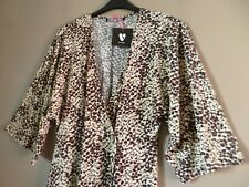 Ladies Animal Print Wrap Dress Size 18 3/4 Sleeves NEW Cost £29
