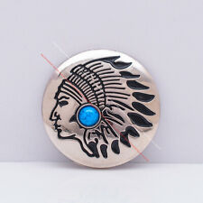 10X Indian Chief Leathercraft Concho Clothes Connector Shank Button DIY Sewing