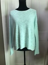 Eileen Fisher Womens Size Small Mint Green Thin Knit Sweater Top Linen Cotton