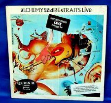 1984 Promo Quiex II Rock 2 LP: Dire Straits - Alchemy - Dire Straits Live
