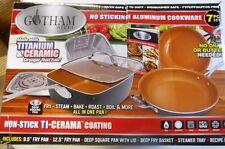 Gotham Steel 7pc Copper Non-stick, Aluminum Cookware with Titanium and Ceramic