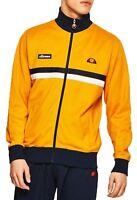 ellesse Mens Retro Avidor Track Jacket Zip Up Polyester Sweat Top Cadium Yellow