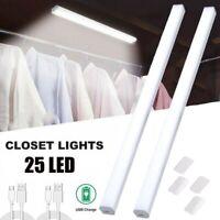 25 LED Under Closet Light Adjustable USB Rechargeable Light Magnetic Strip Lamp