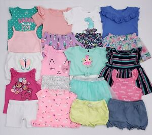 Girl 24 Months 2T Summer Clothes Shirts Shorts Skirts Bodysuit Outfits Sets Lot!