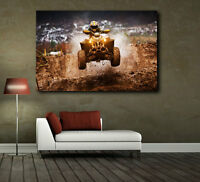 ATV Motocross Racing Canvas Art Poster Print Home Wall Decor
