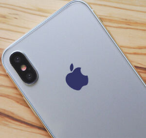 Purple Color Changer Overlay for Apple iPhone X Logo Vinyl Decal