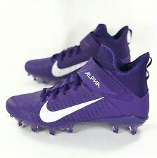 Nike Alpha Menace Pro 2 Purple Mid Men's Size 8.5 Football Cleats Aq3209-500 New