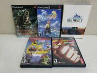 Lot Bundle Of 5 PS2 Playstation 2 Games DBZ Budokai 3 Final Fantasy X & XI GOW
