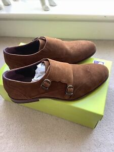 Ted Baker London Rovere Tan Suede Shoes Size Uk 10 BNWB