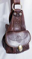 MARINO ORLANDI Women's Made In Italy Brown Leather Sling Bag Handbag