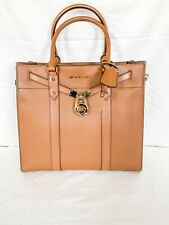 NWT MICHAEL Michael Kors Nouveau Hamilton Large North South Leather Tote Bag
