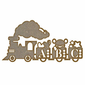 ABC Train MDF Laser Cut Craft Blanks in Various Sizes
