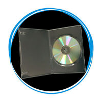 200 Clear Transparent 7mm Slim Single CD DVD Movie Case Storage Box Wholesale