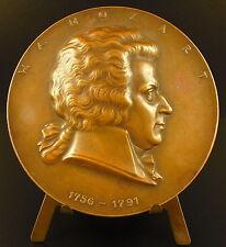 Medaille Wolfgang Amadeus Mozart Salzbourg music composer compositeur 75mm Medal