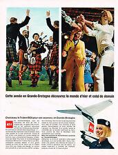 PUBLICITE ADVERTISING 025  1967  BEA  passez vos vacances en GRANDE-BRETAGNE