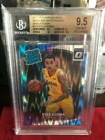 2017 Donruss Optic Kyle Kuzma RC #174 Shock Flash Rated Rookie BGS 9.5 Lakers