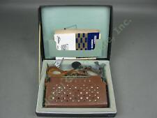 Vtg 1960 Toshiba 8TM-294B Transistor Radio + Leather Case Pickup Adapter Box Lot