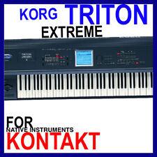 KORG TRITON EXTREME For NI KONTAKT NKI Patches/Presets/Sounds 12 DVD'S 45GB