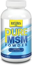 MSM Sulphur Powder, Natural Balance, 4 oz