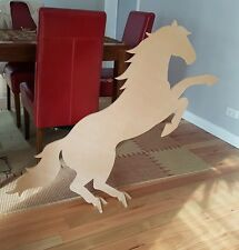 large horse statue raw mdf freestanding