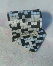 Crossword tie Steven Harris hand made 100% Polyester, Classic and Classic