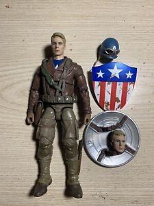 Hasbro Marvel Legends WW2 Captain America First Avenger Loose Complete