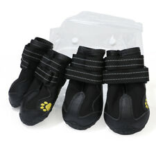 4-Pack Dog Rain Shoes Dog Boots Socks Clothes for Medium to Large Samoyed Husky