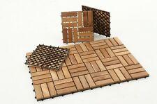 Nordic Style Natural Style Teak Tile 12 slats, 10 pcs per box