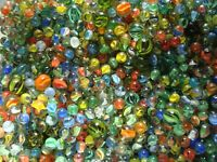 100 Vintage Classic Cats Eye Marbles Red Blue Multicolor With Shooters Free Ship