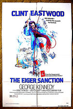 "CLINT EASTWOOD - ""THE EIGER SANCTION"" / THRILLER!! - 1975 one sheet 27x41 poster"