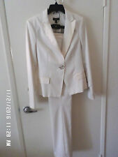 STUNNING bebe OFF-White Pant Suit Jacket and Pants NWT