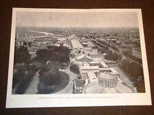 Esposizione nazionale di Torino nel 1898 Veduta dall'alto del Pallone Godard
