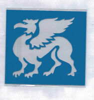 Plastic/PVC/PP/Embossing/Stencil/Oriental/Griffin/Design/Bendy/REDUCED