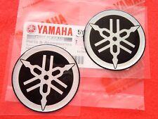 2 x Yamaha Logo Emblem Tuning Fork Resin Sticker Decal 40mm GENUINE YAMAHA