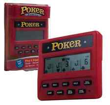 Electronic Pocket Poker Great Handheld Poker Gift, 5 Different Games, New 47438