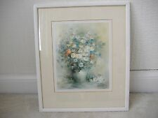 Framed Still Life Print of Flowers by W.Haenraets