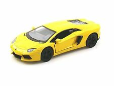 "New 5"" Kinsmart Lamborghini Aventador LP700-4 Diecast Model Toy Car 1:38 Yellow"