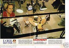 Coupure de presse Clipping 1982 (4 pages) Christine Ockrent