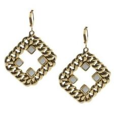 QVC Crystal & Curblink Chain Goldtone Lever Back Earrings SOLD OUT $98
