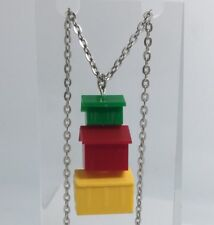 House Street Pendant Necklace Charms Plastic  Kitsch Monopoly G316 Red Green