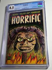 Horrific #4 CGC 4.5 Classic Shrunken Head Cover 1953 Very Rare Book Looks Great