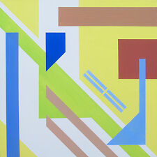 "Abstract Modern Geometric Original Acrylic Painting - 12"" x 12"" x 3/4"""
