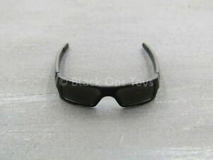 1/6 scale toy GLASSES - Black Frame Sunglasses w/Black Lenses