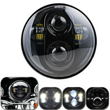 "5.75"" LED Motorcycle Headlight Daymaker Projector DRL Head Lamp Black For Harley"