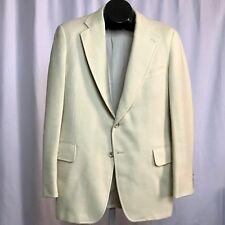 VTG Paul Stuart Southwick Ivory Sport Jacket Blazer 41 Semi Long Clean Wool?