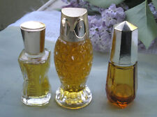 Avon 1970s Glass Owl Bottle Full Timeless + 2 Bonus Bottles!