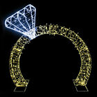 13ft Lighted Commercial Grade LED Diamond Ring Outdoor Display Decoration