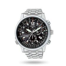 Orologio da uomo Citizen Crono Pilot Acciaio AS4020-52E NUOVO CON GARANZIA