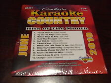 CHARTBUSTER KARAOKE COUNTRY  HITS OF THE MONTH 60441 JUNE 2010 CD+G 12 TRACKS