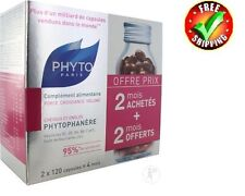 Phyto - PHYTOPHANERE Hair & Nails 2 x 120 caps  4 Months Supply  FREE SHIPPING!!